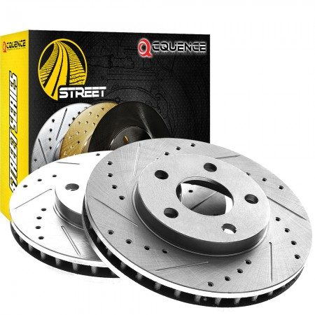 1963 Mercedes Benz 220SE Street Drilled Slotted Brake Rotors